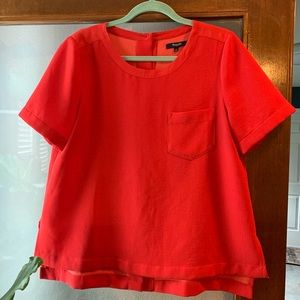 Bright red Madewell top